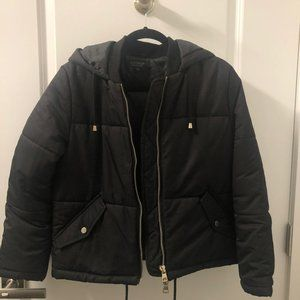 Topshop Black Puffer Jacket